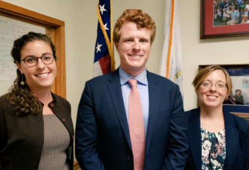 From left to right: Michelle Jolson, Joe Kennedy, Katherine King