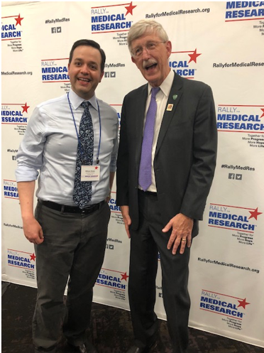 Dr. William Stoops of the University of Kentucky and NIH Director Dr. Francis Collins.
