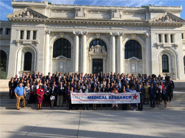 The advocates for the 2019 Rally for Medical Research.