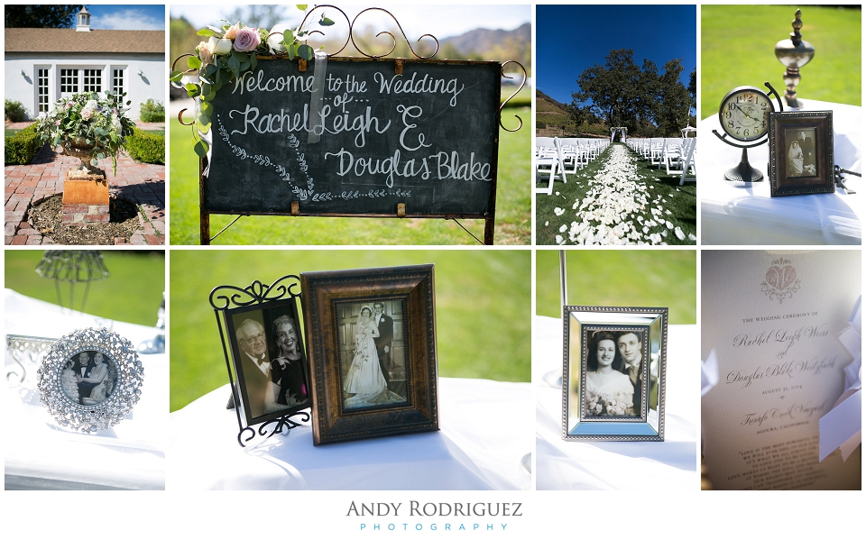 Ceremony details at Triunfo Creek Vineyards