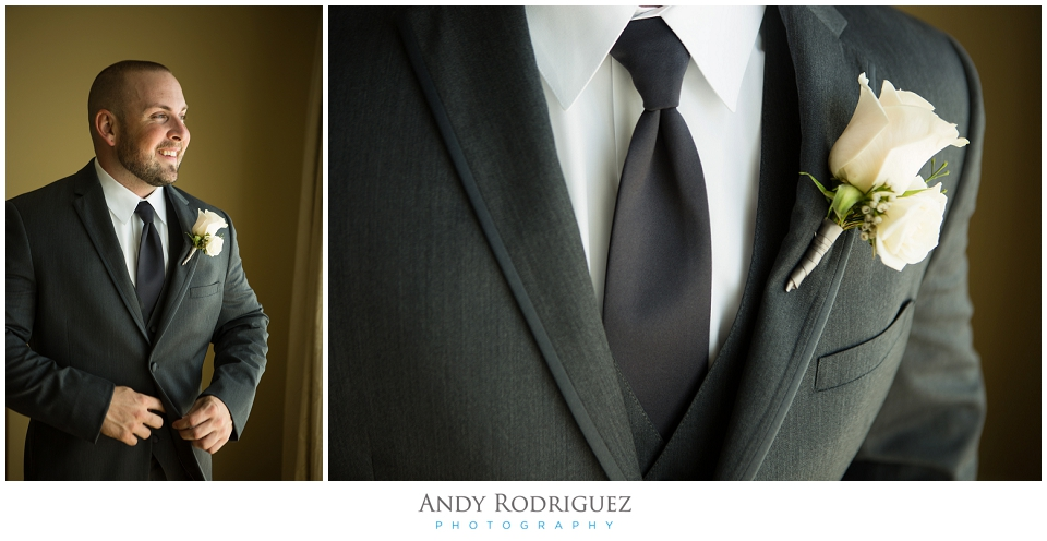 Groom details at Terranea Resort