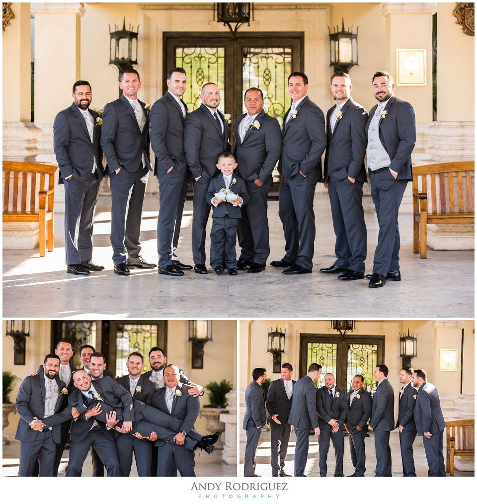 Groomsmen at Trump National Golf Course