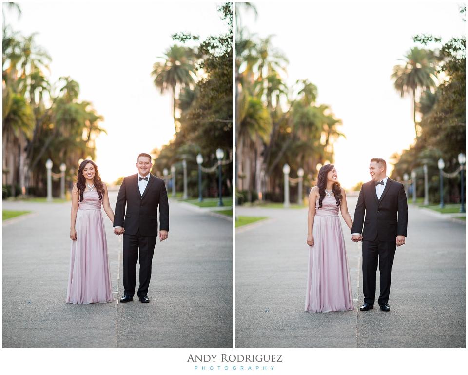 Balboa Park Engagement Photo