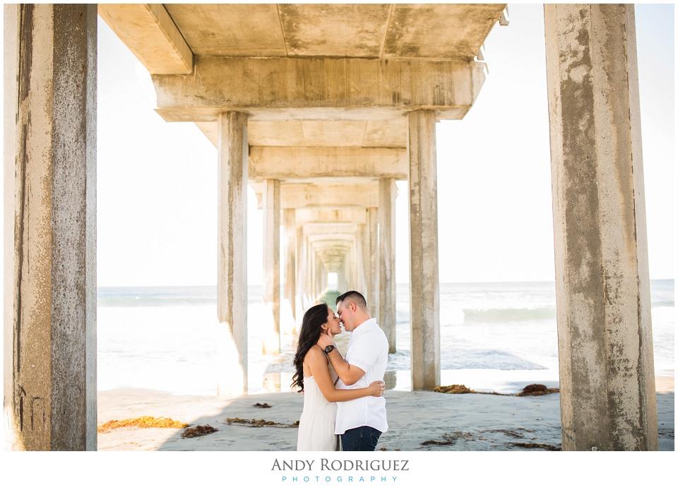 Scripps Beach Engagement Photo