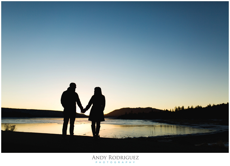 Big Bear Lake Engagement Silhouette