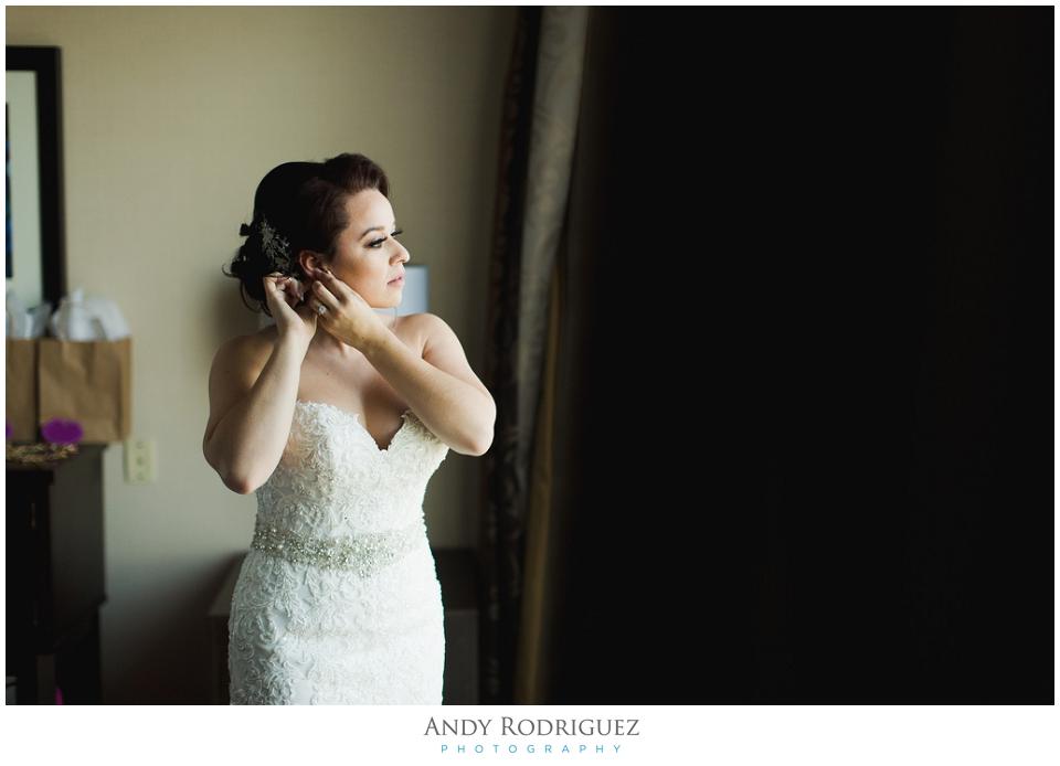 Nixon Library Wedding Bride Getting Ready