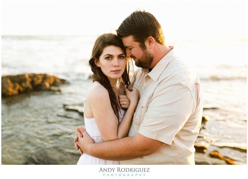 Crystal Cove Beach Engagement Photo