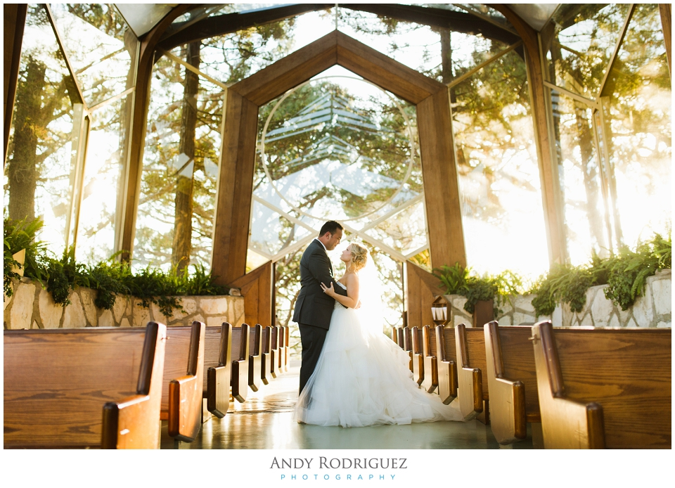 Wayfarers Chapel Wedding Portrait