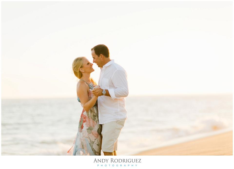 Beach Engagement Photo in Newport