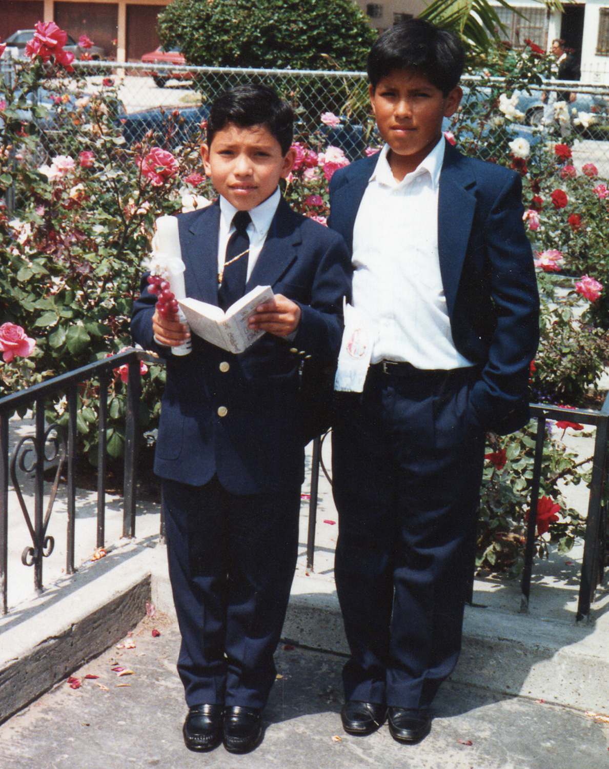 My bro and I at my First Communion. And yes, I was an altar boy.