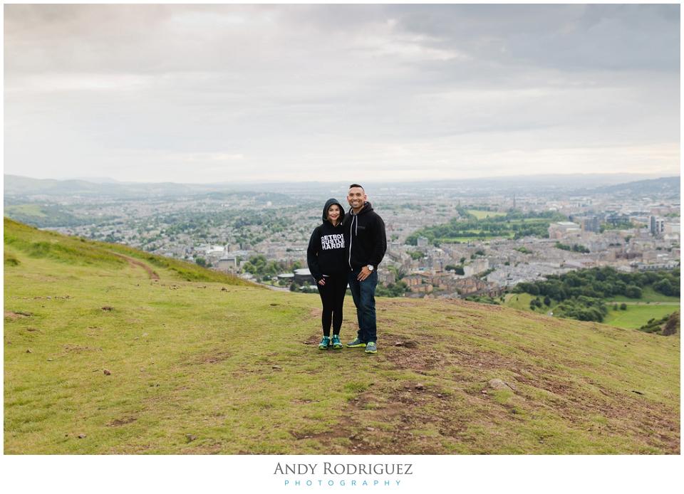 Couple at Arthur's Seat
