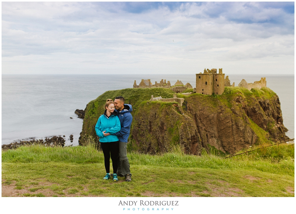 dunnottar castle engagement photo
