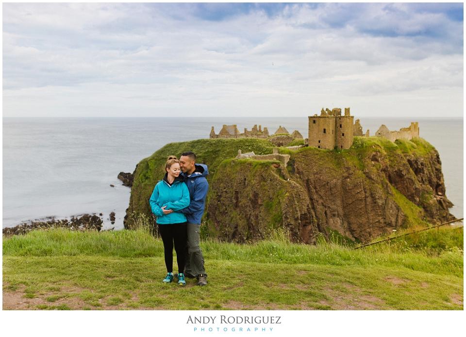 dunnottar castle engagement photo