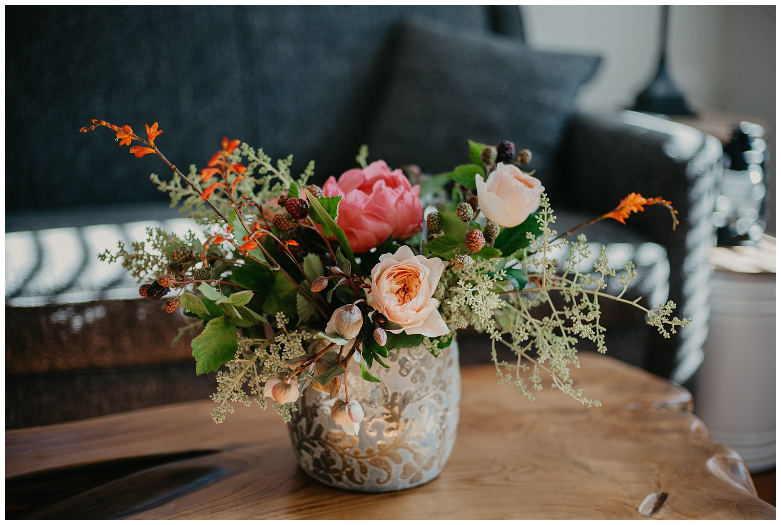 Photo Credit:  Allison Easterling Photography   Vase:  Anthropologie