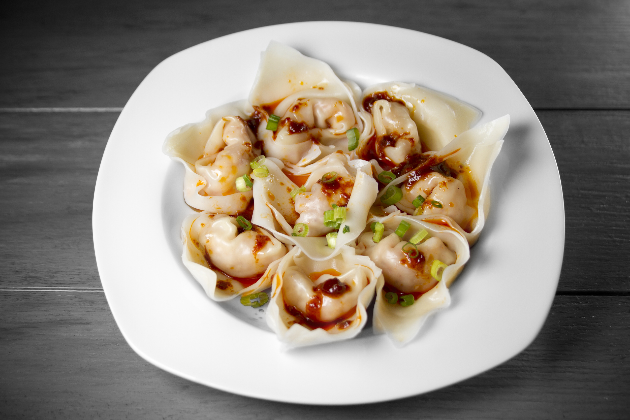 Spicy Chili Shrimp Pork Wonton Dumplings