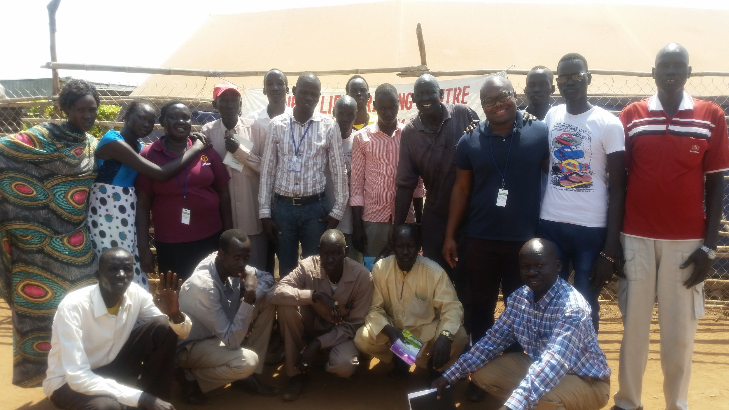 Leadership of the ONAD Peace Club at the UN Protection of Civilians site, in Juba.