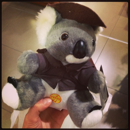 Talking stuffed Koala from Sydney Airport - had to be done really