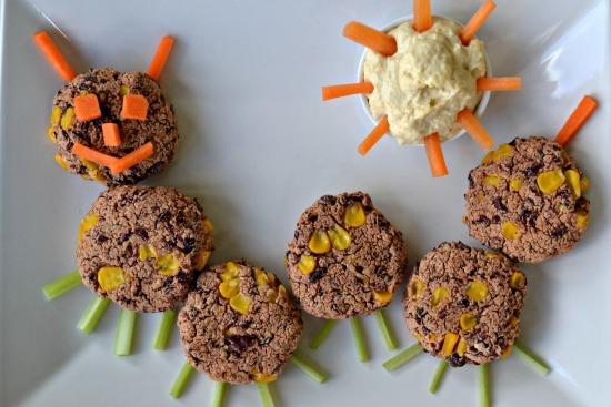 Mini Bean and Sweetcorn Burgers Caterpillar.jpg