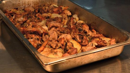 Marco Turkey Masterclass tray of roasted bony turkey bits.jpg