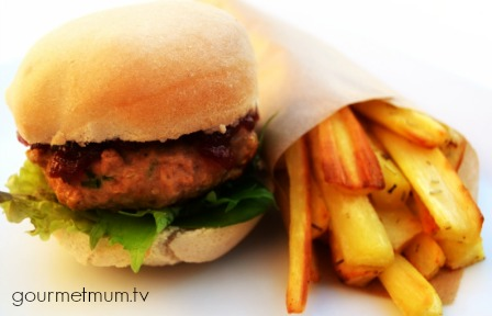 Organix No Junk Christmas Turkey Burgers with Parsnip Chips.jpg