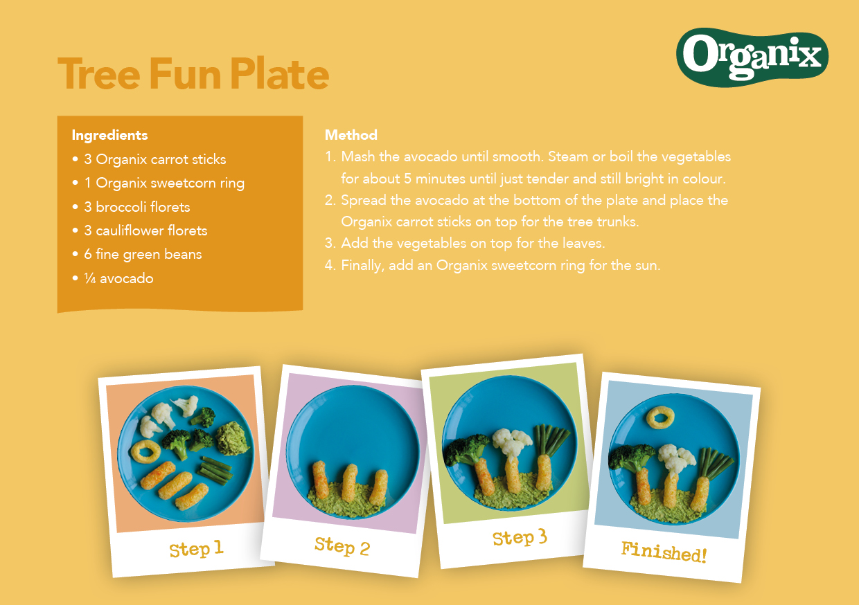 Tree Fun Plate by Organix Recipe