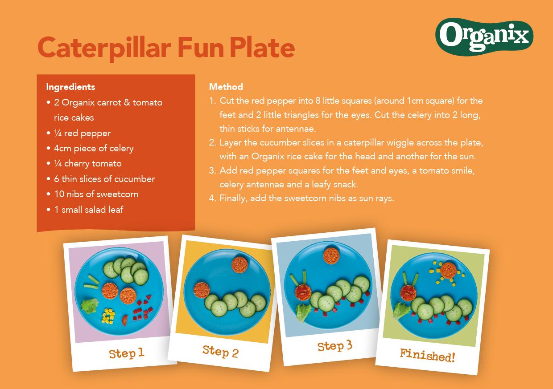 Caterpillar Fun Plate by Organix Recipe