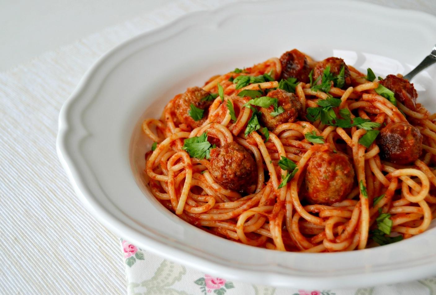 Speedy Spaghetti and Sausage Meatballs