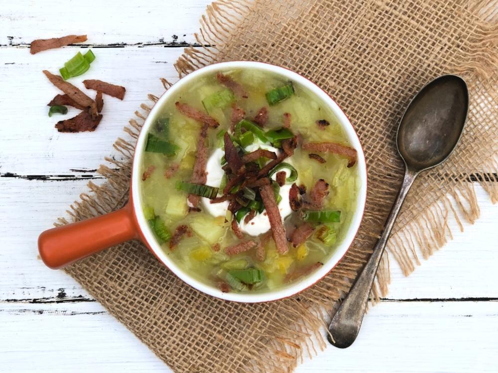 Leek and Potato Soup Topped with Bacon and Crispy Leeks.jpg