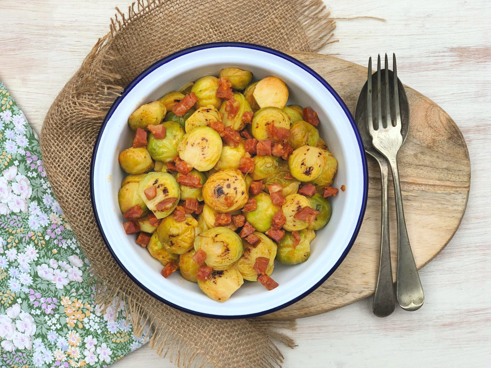 Pan fried sprouts with chorizo.jpg