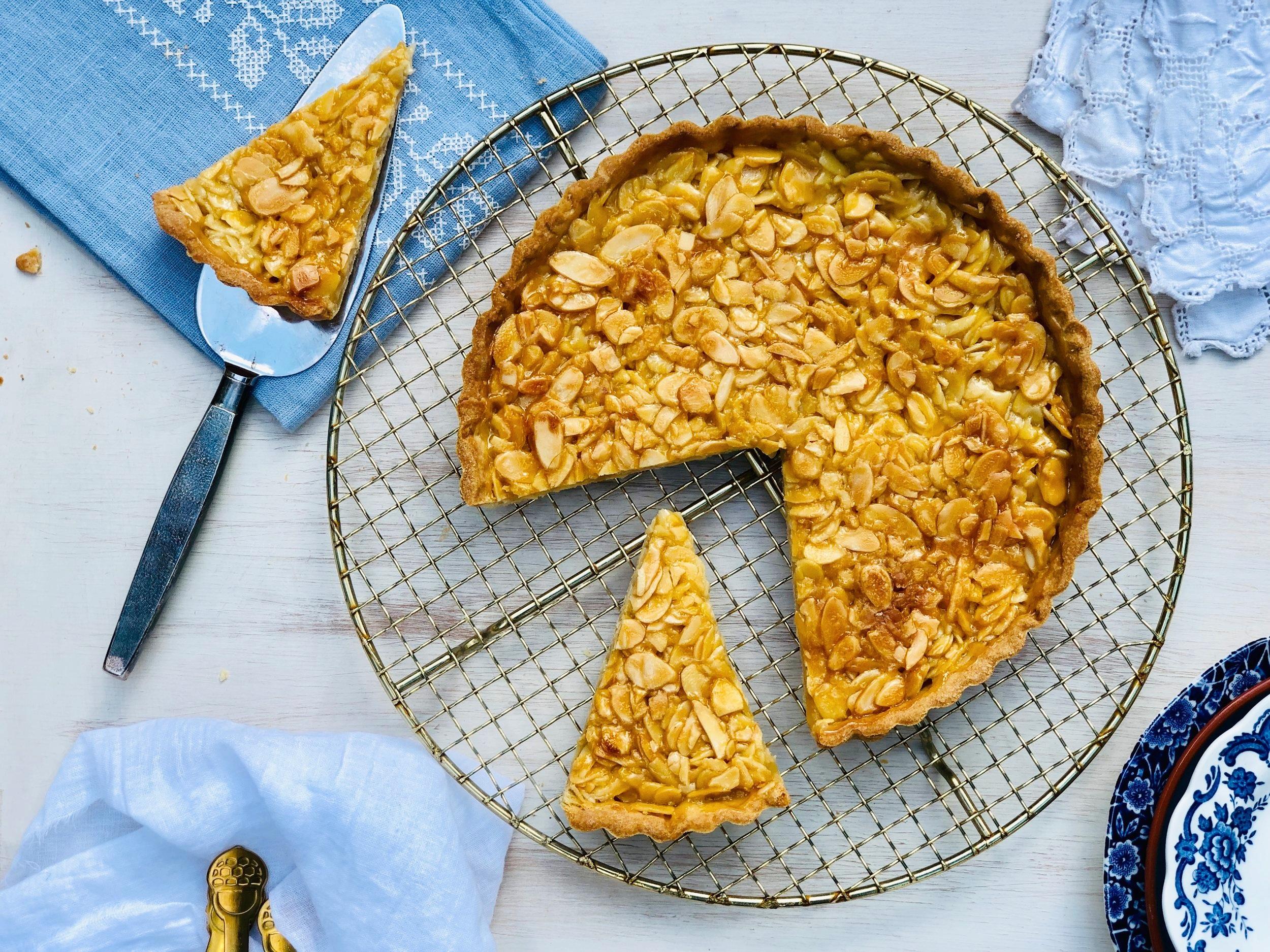 Portuguese Style Caramelised Almond Tart 1.jpg