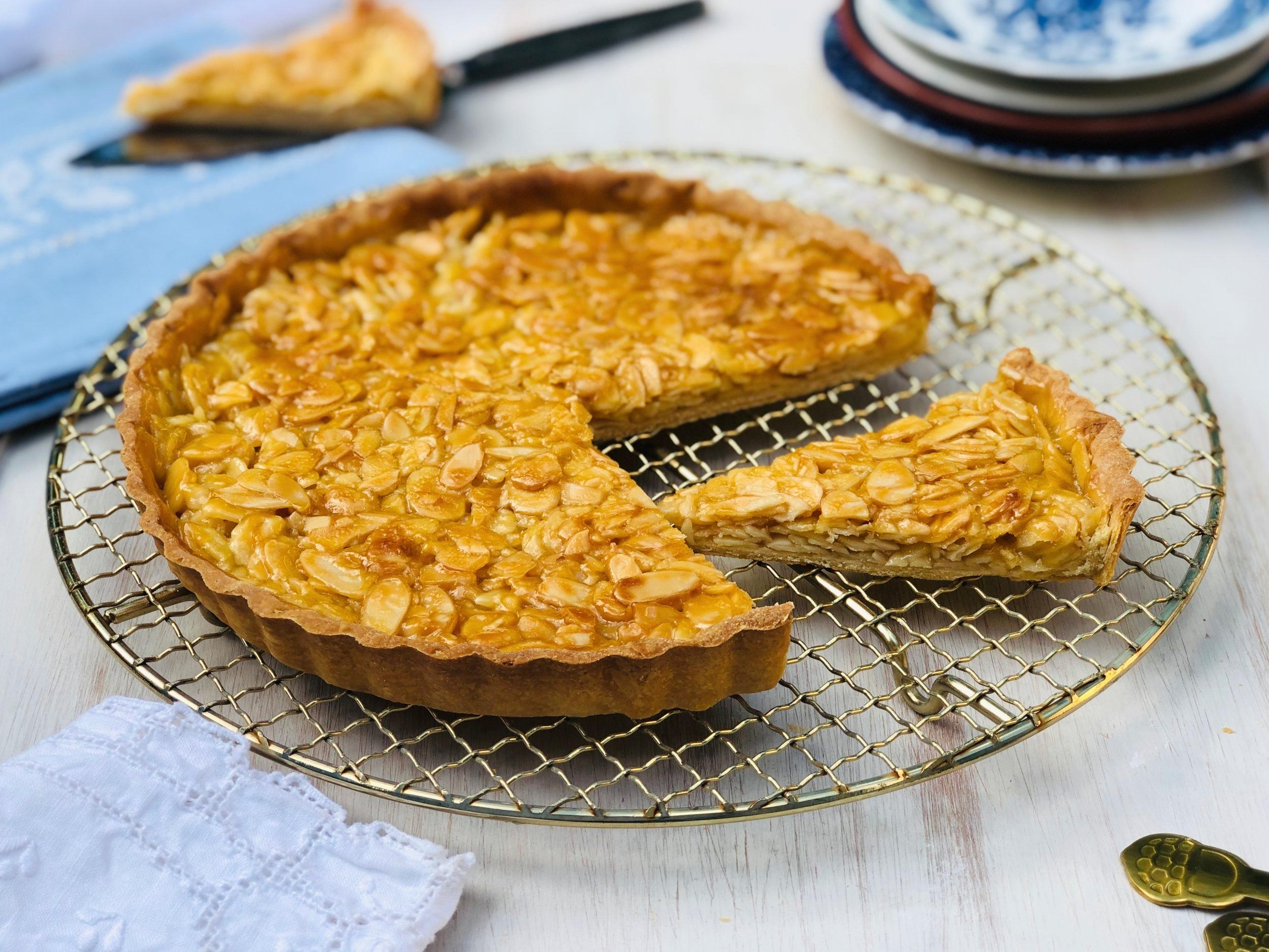 Portuguese Style Caramelised Almond Tart 2.jpg