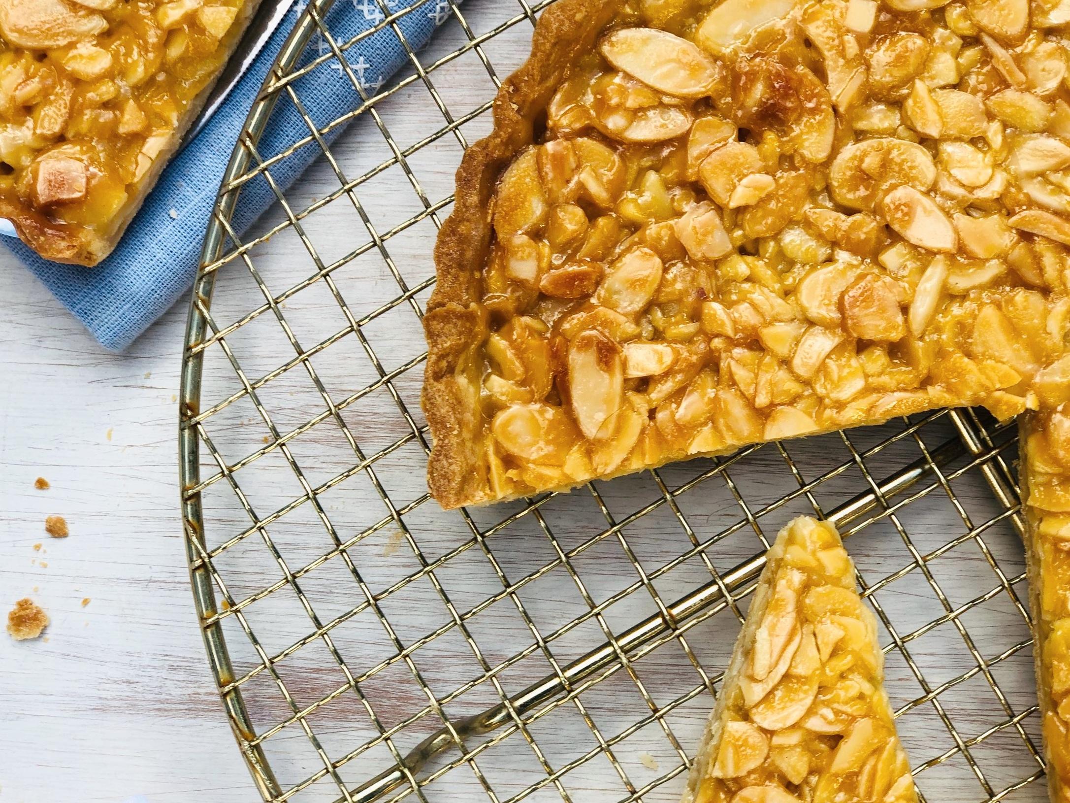 Portuguese Style Caramelised Almond Tart 3.jpg