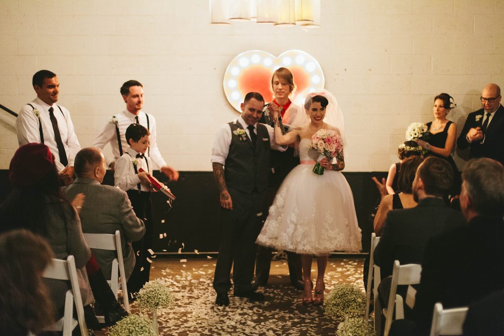 Rock N Roll wedding at Union Pine