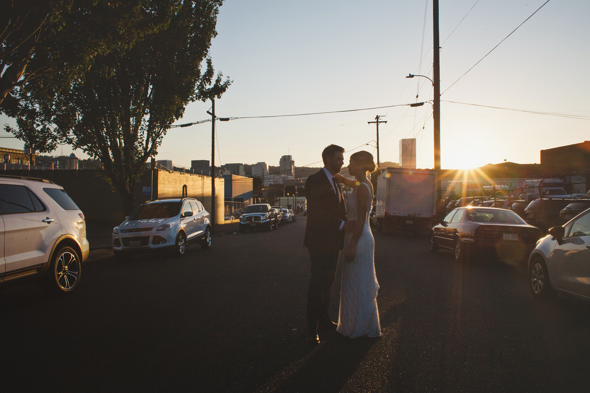 City view wedding