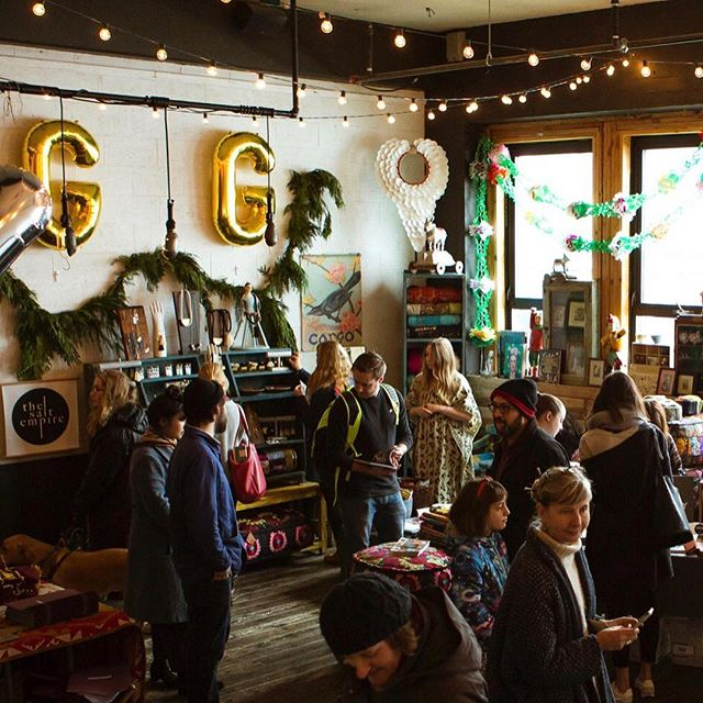 We can't wait to see you THIS WEEKEND for our 8th annual Give Good Gift holiday pop up event at Union Pine!   There will be even more good gifts to give next door at the Goodwell + Co. building, so walk between market places with a cocktail in hand and enjoy all that this gift giving season has to offer! With over 40 artists, shops, and food trucks, a Santa photo booth and festive bar, there will surly be something for everyone on your list. We will also be doing a food drive for @urbangleanerspdx so if you've got a can to give, bring it! We'll see you there!