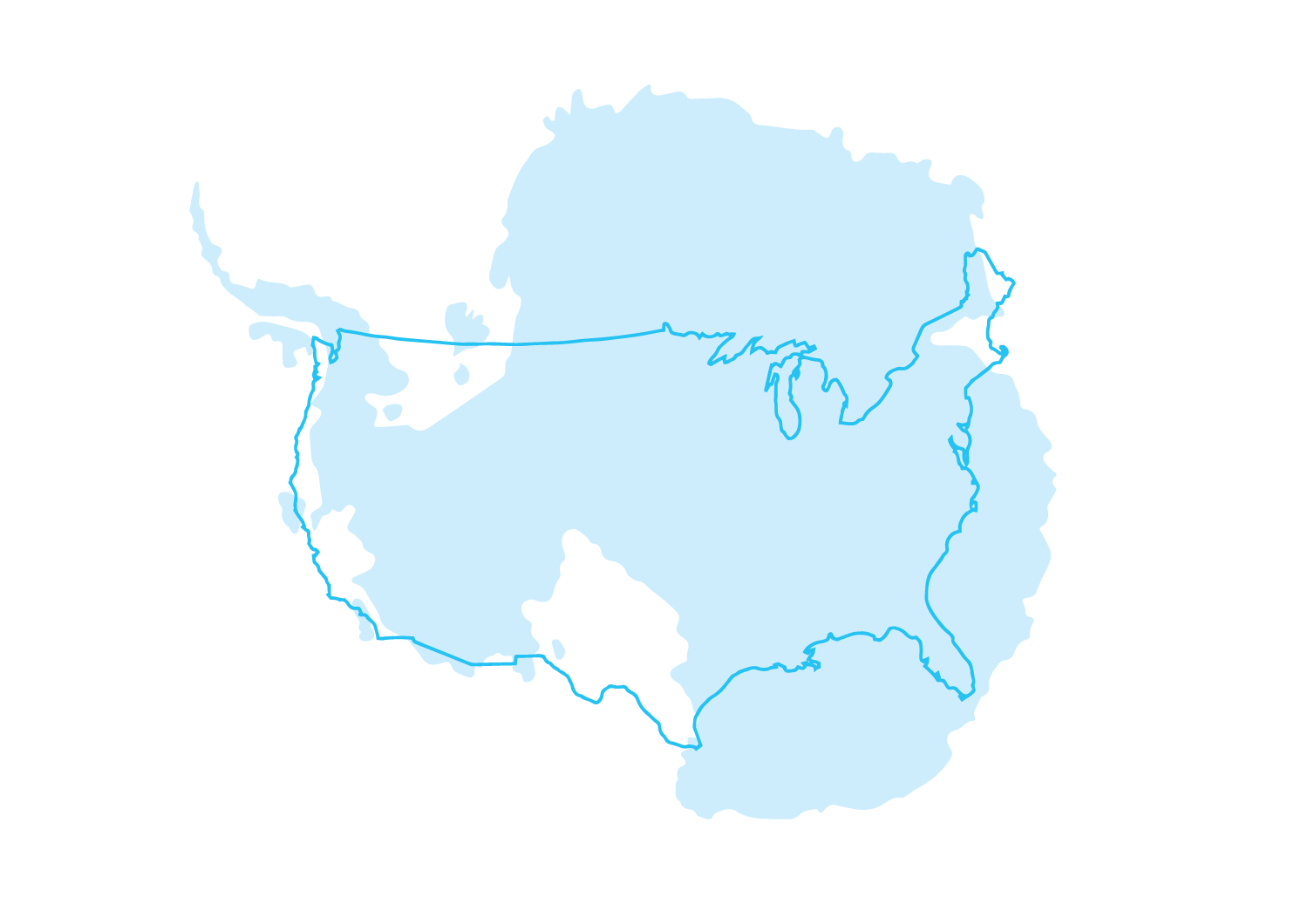 Antarctica & United States (excluding Alaska and Hawaii)