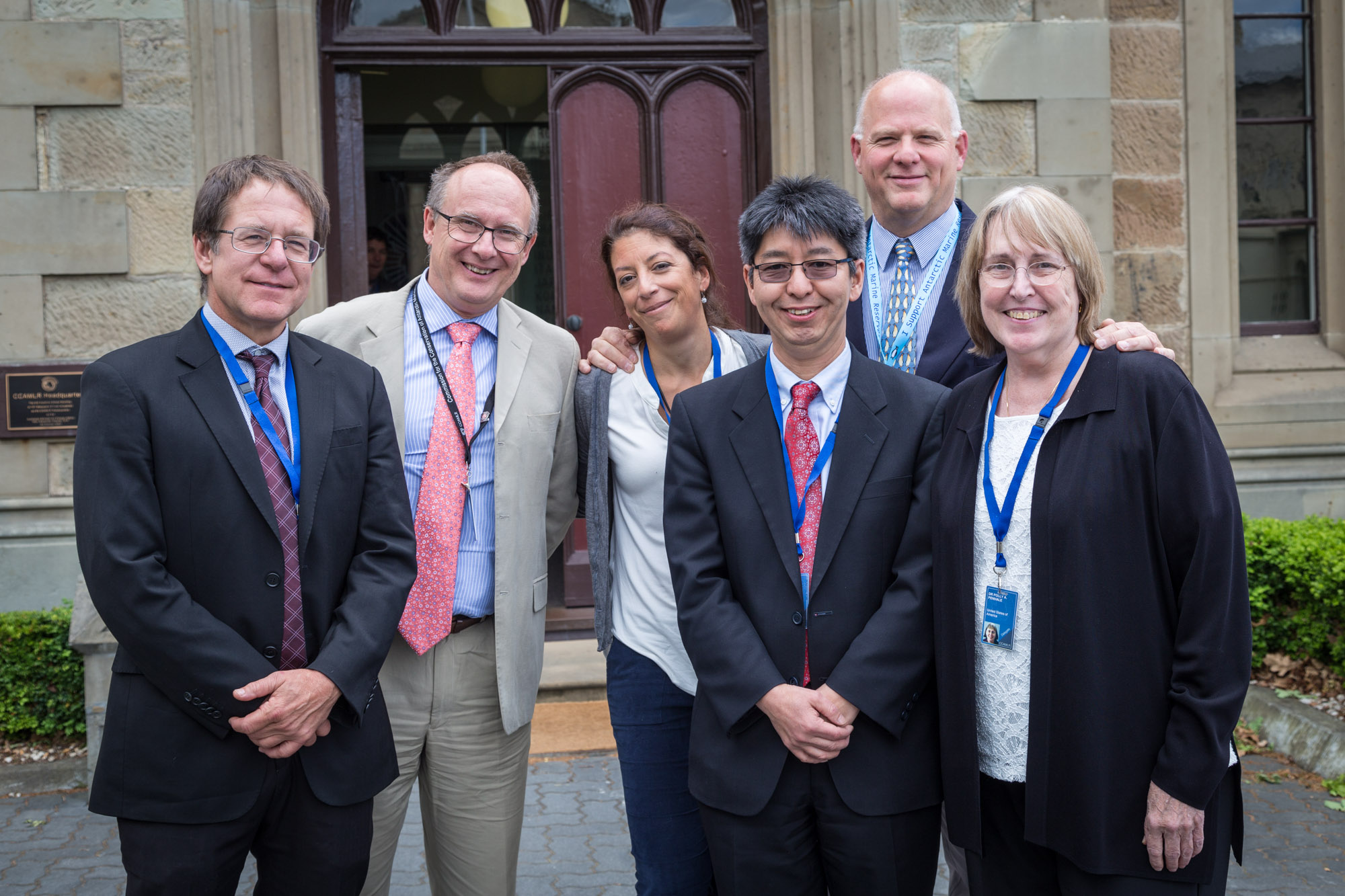 Photo: Members of AWR's Science Advisory Group;  Dr. Christopher Jones, Dr. Phil Trathan, Dr. Mercedez Santos, Dr. So Kawaguchi, d Dr. Rodolfo Werner (AWR Scientific Advisor and Board member), Dr. Polly Penhale