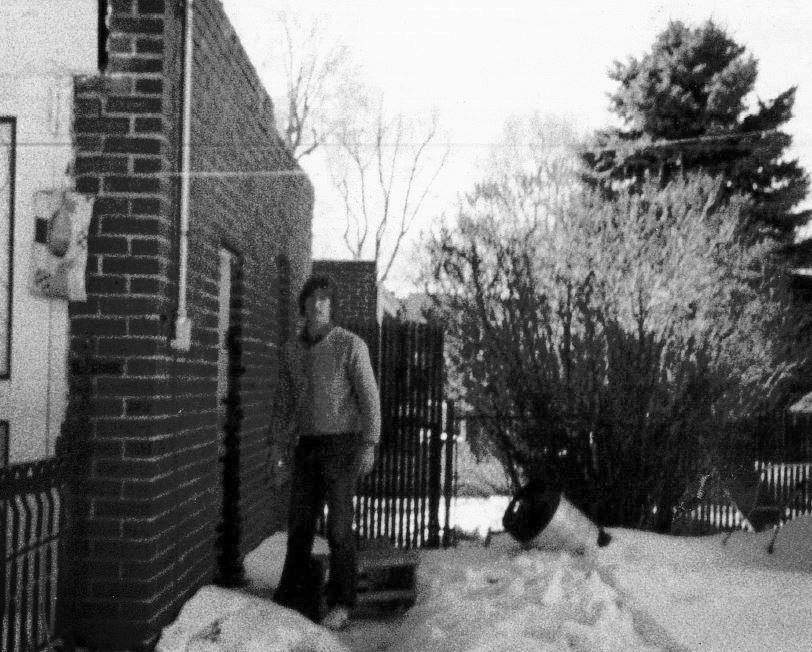Hank Wierman outside the single detached garage Spectrum started in.