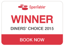 Open Table - Winner Diner's Choice 2015
