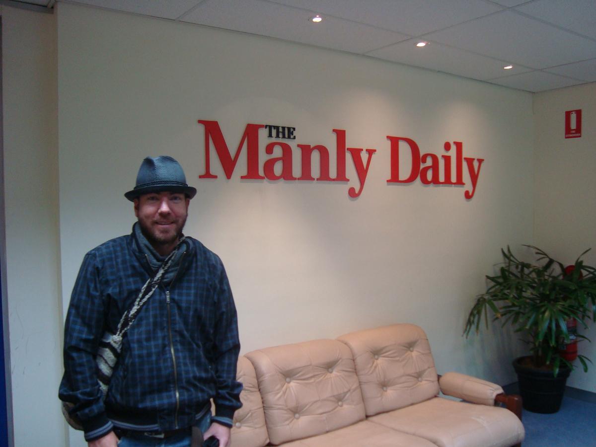 Instalaciones Periodico The Manly Daily. Sydney Australia.