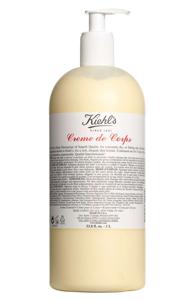 "Kiehl's Jumbo Creme de Corps Body Lotion- $52 (normally $75-$96) - I am addicted to Crème de Corps, which I think is French for ""you will literally feel like a corpse without with lotion"", right? It's incredibly hydrating, and leaves skin smooth and glowy. This bottle is the size of a small child, with less commitment! It will last me about an entire year, and the pump is KEY to assure I use it everyday. A solid investment in your skin."