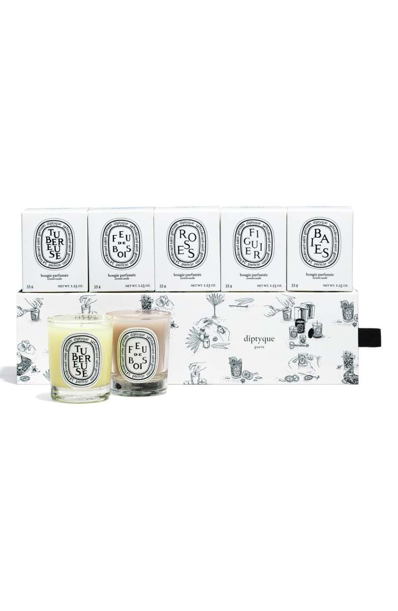 Diptyque Mini Candle Set of 5- $55 (normally $75)  - THIS IS THE MONEY RIGHT HERE! I really may have saved the best for last. When I saw these last year, I had to do a double take. FIVE mini Diptyque candles?! These babies prove that size ISN'T everything (oh, hi mom!). Just one of these will fill your entire home with their delicious scent. These also make the perfect gifts- if you can bear to part with even one. If I've given you a
