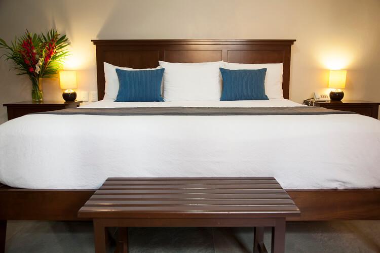 hotel bed in mazatlan