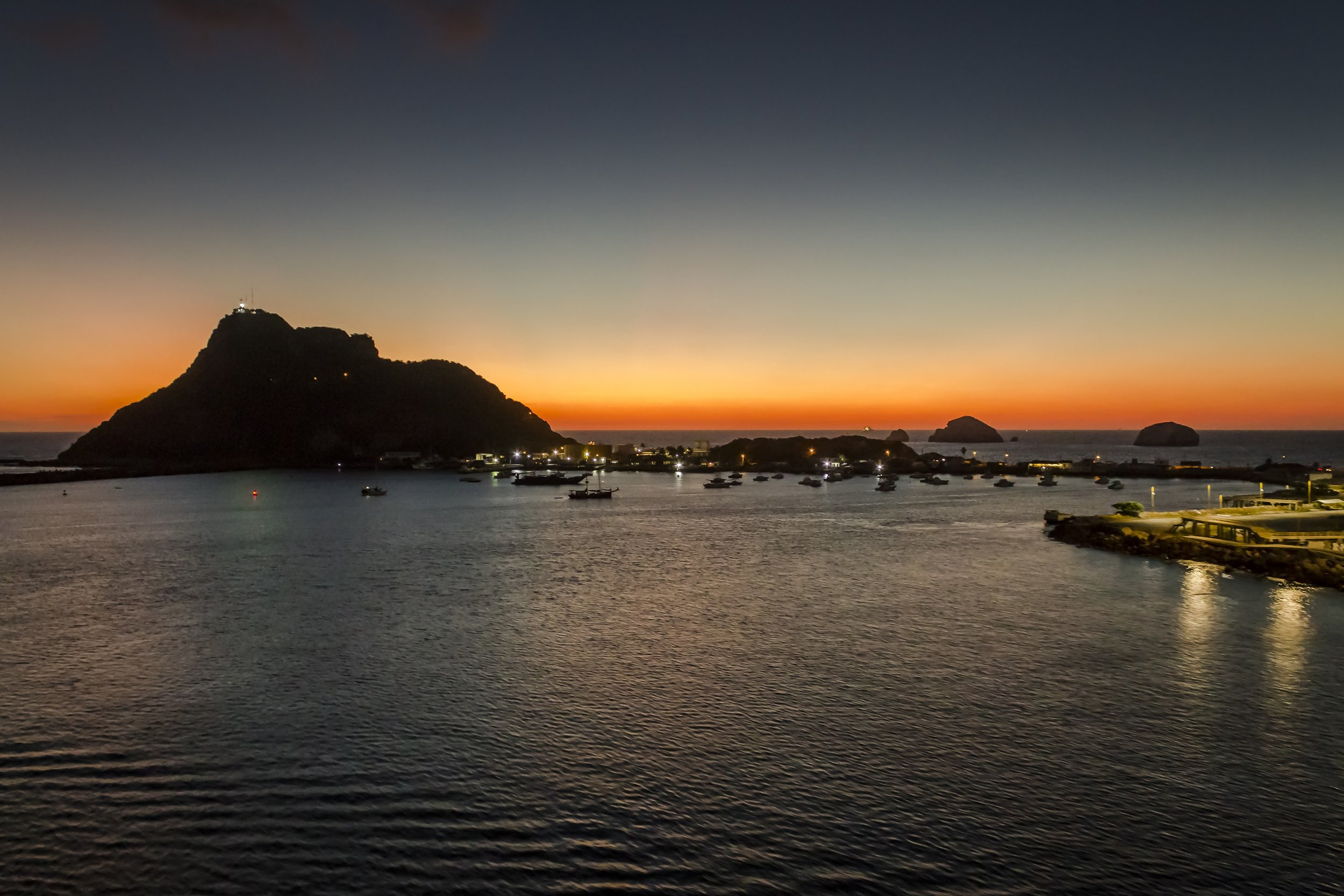 Port for cruise ships in Mazatlan, Mexico