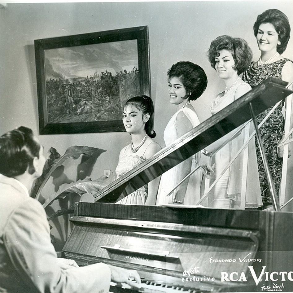 Esther Valades far left.