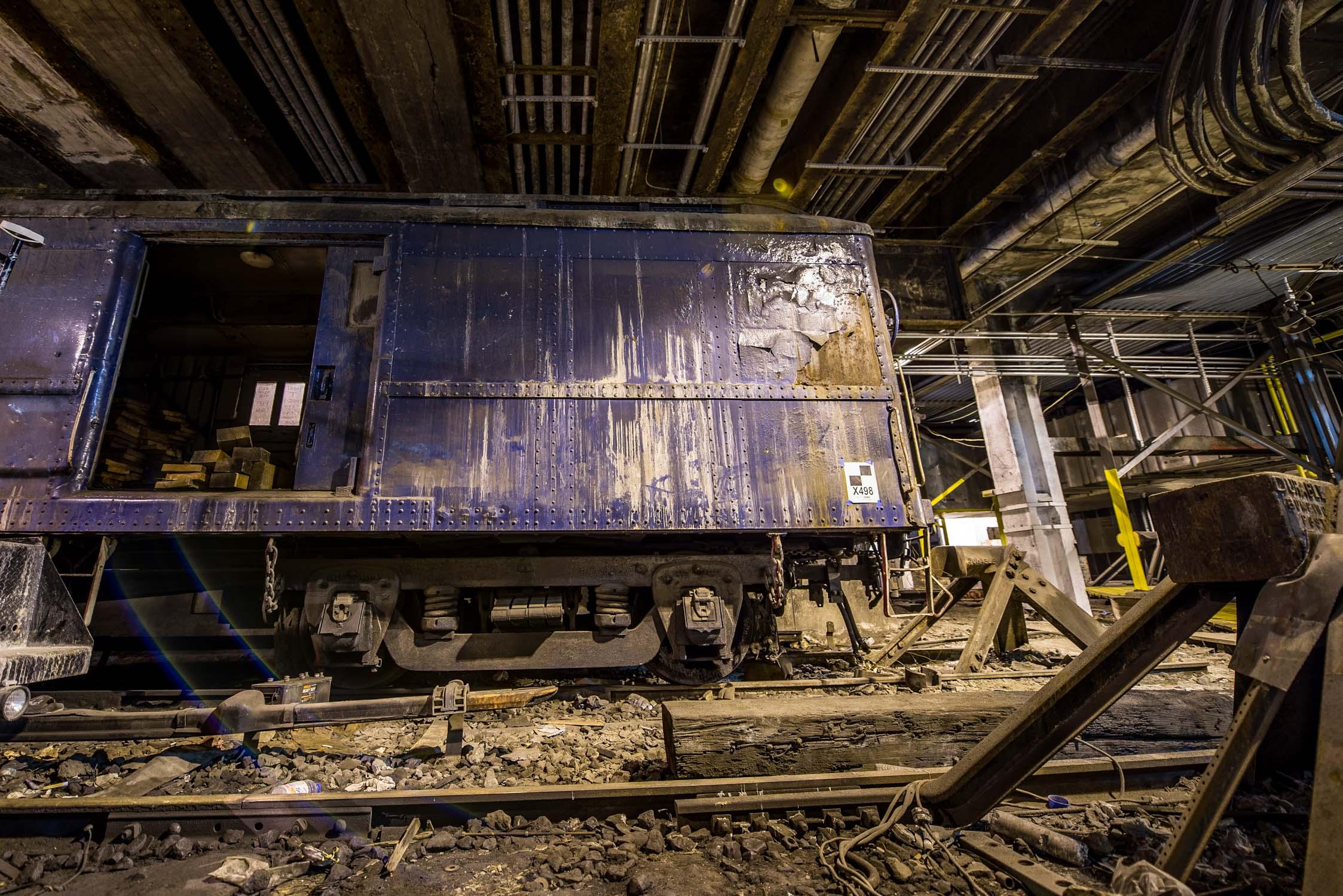 President Roosevelt's abandoned amor plated rail car