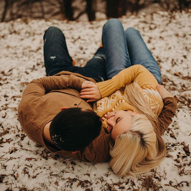 Couples that are down to roll around in the snow during their session?! Okay, cool.
