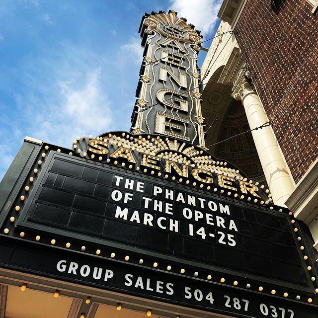 Time for Phantom! with @kelliente28  #phantomoftheopera #saengertheatre