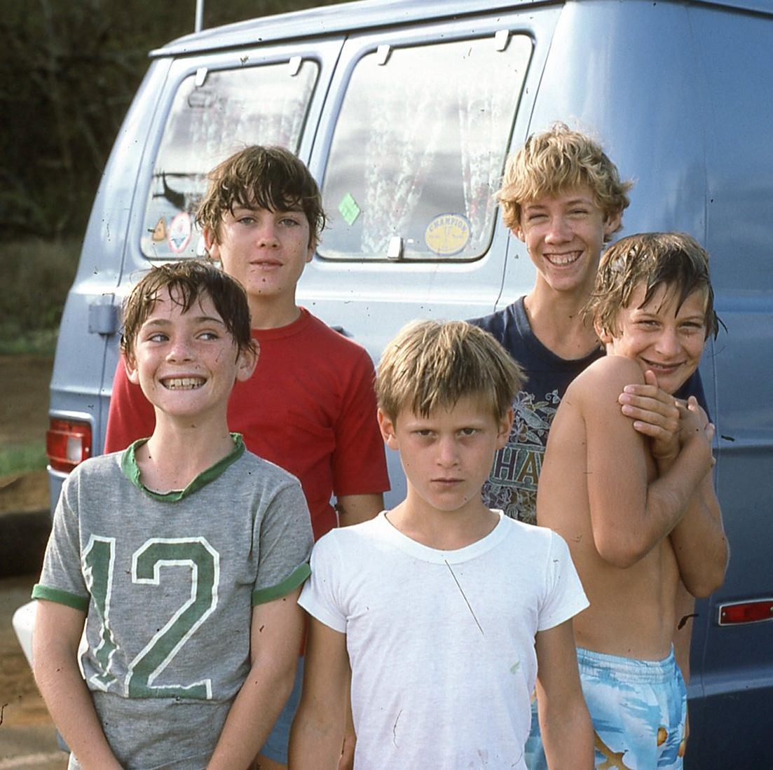 Chris Ruddy (center) and friends Ewa Beach1976