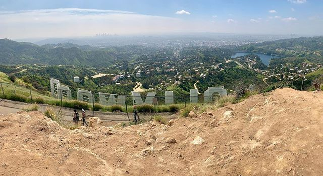 Top of the world, or, at least #LA #hollywoodsign #hike